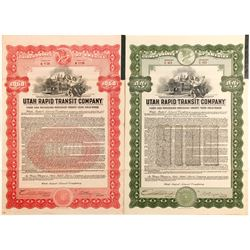 Utah  Rapid Transit Bonds, 2 Different   (84117)