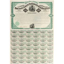 $1,000 Houston & Great Northern Railroad Co Bond   (106329)