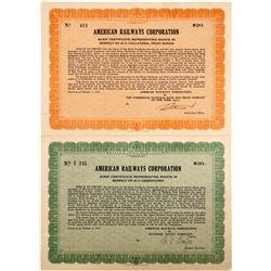 American Railways Corp. Scrip Certificate   (75871)