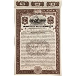 Boston  and Main Railroad 10-Year Mortgage Bond   (83110)