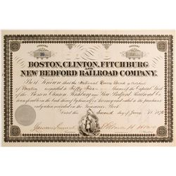 Boston, Clinton, Fitchburg New Bedroad Railroad Co   (83129)