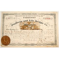 Ferguson Platform and Life Bridge Co Stock   (75850)