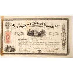 Fort Street and Elmwood Railway Company stock   (75829)