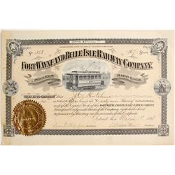 Fort Wayne and Belle Isle Railway Company   (75828)