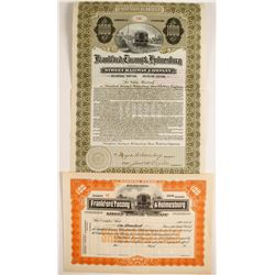 Frankford, Tacony & Holmesburg Street Railway Co. Stock and Bond   (75819)