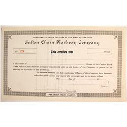 Fulton Chain Railway Company   (75832)