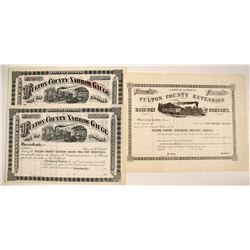 Fulton County Narrow Gauge (Extension) Railway Co. Non-issued Stocks   (75813)