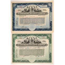 Harrisburg Railways Co. Stocks (2)   (106032)