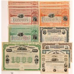 Kentucky railroad stock and bond   (105691)