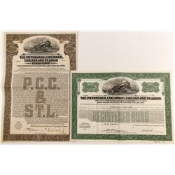 Piitsburgh, Cincinnati, Chicago and St. Louis Railroad Bonds (2)   (84275)