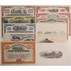Railroad collection - 8 stocks   (106434)