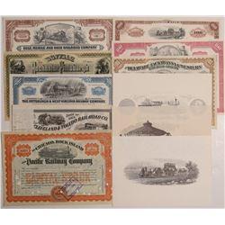 Railroad collection - 8 stocks   (106434)