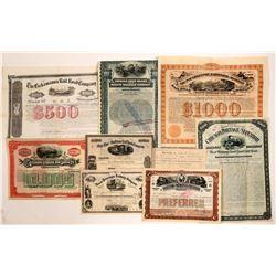 Railroad Group - 5 each stocks & bonds     (106200)