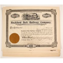 Rockford Belt Railway Company Stock Certificates (Illinois)   (79628)