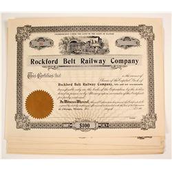 Rockford Belt Railway Company Stock Certificates (Illinois)   (79628)