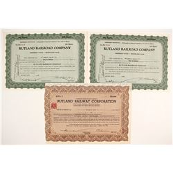 Rutland Railroad Company Stock Certificates   (78749)