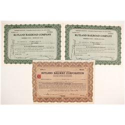 Rutland Railroad Company Stock Certificates   (78749)