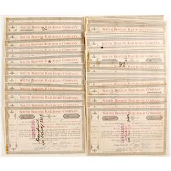 South Boston Railroad Company Stock Certificates   (78765)
