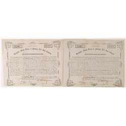 Springfield, Mount Vernon & Pittsburgh Railroad Company Stock Certificates   (78763)