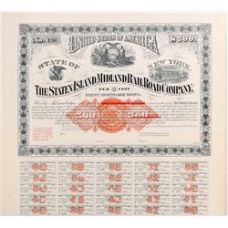 Staten Island Midland Railroad Co. bond   (106328)