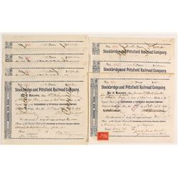 Stockbridge and Pittsfield Railroad Company Stock Certificates   (78761)