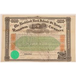 The Rockford, Rock Island and St. Louis Railroad Company Bond Certificates   (78775)