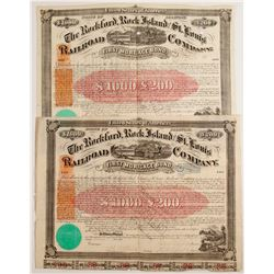 The Rockford, Rock Island and St. Louis Railroad Company Bond Certificates   (78764)