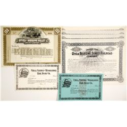 Various Utica Railroad Company Stocks   (78703)
