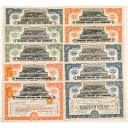 Hudson Motor Car Company Stock Certificates   (104429)