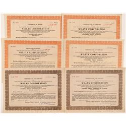 Willys Corporation Stock Certificates   (103507)