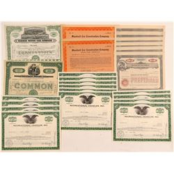 Automobile Stock Certificate Group   (107311)