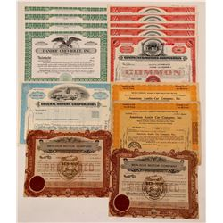 Automobile Stock Certificate Group   (107365)