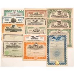 Automobile Stock Certificate Group   (104438)