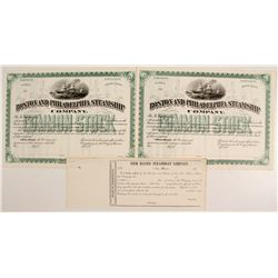 Boston and Philadelphia Steamship Co Stocks (2)   (83361)