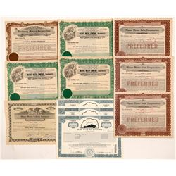Miscellaneous Auto Stock Certificates   (104420)