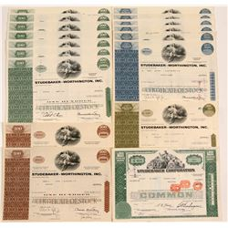 Studebaker-Worthington, Inc. Stock Certificates   (104185)