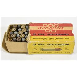 42 Rnds Vintage Winchester 35 Win Self Loading