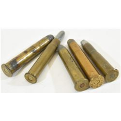 5 Rnds Vintage WRA Co Large Caliber Ammo