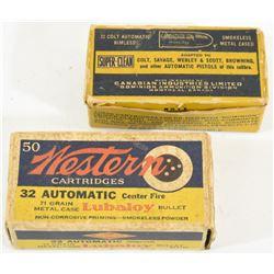 Vintage 32 Cal Ammunition