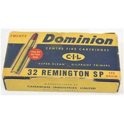20 Rnds Dominion 32 Rem 170grn SP