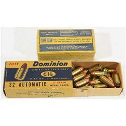 78 Rnds Vintage Dominion 32 ACP