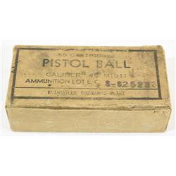 50 Rnds US WW2 45 ACP M1911 Ammo