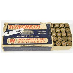 31 Rnds Winchester 45 Auto Rimmed 230grn RN