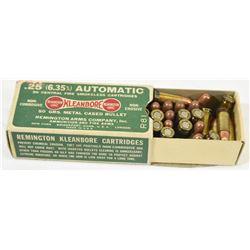 40 Rnds Remington 25 Auto 50grn