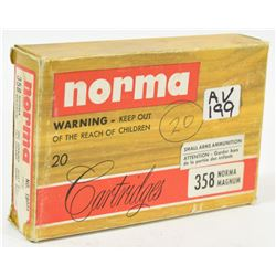 20 Rnds Norma 358 Norma Mag 250grn Jkt SP