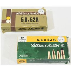 40 Rnds Sellier & Bellot 5.6 x 52R (22 HP Savage)