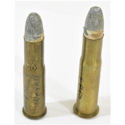 2 Rnds. Vintage 11 MM Ammo