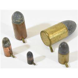 5 Rnds. Various Pin Fire Ammunition