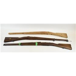 Three Swedish Mauser Stocks