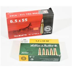 30 Rnds 6.5 X 55 Ammo
